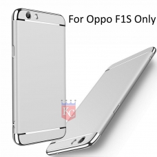 3 In 1 Ultra Thin Hard Coated Matte Surface Back Cover for Oppo F1s - Silver